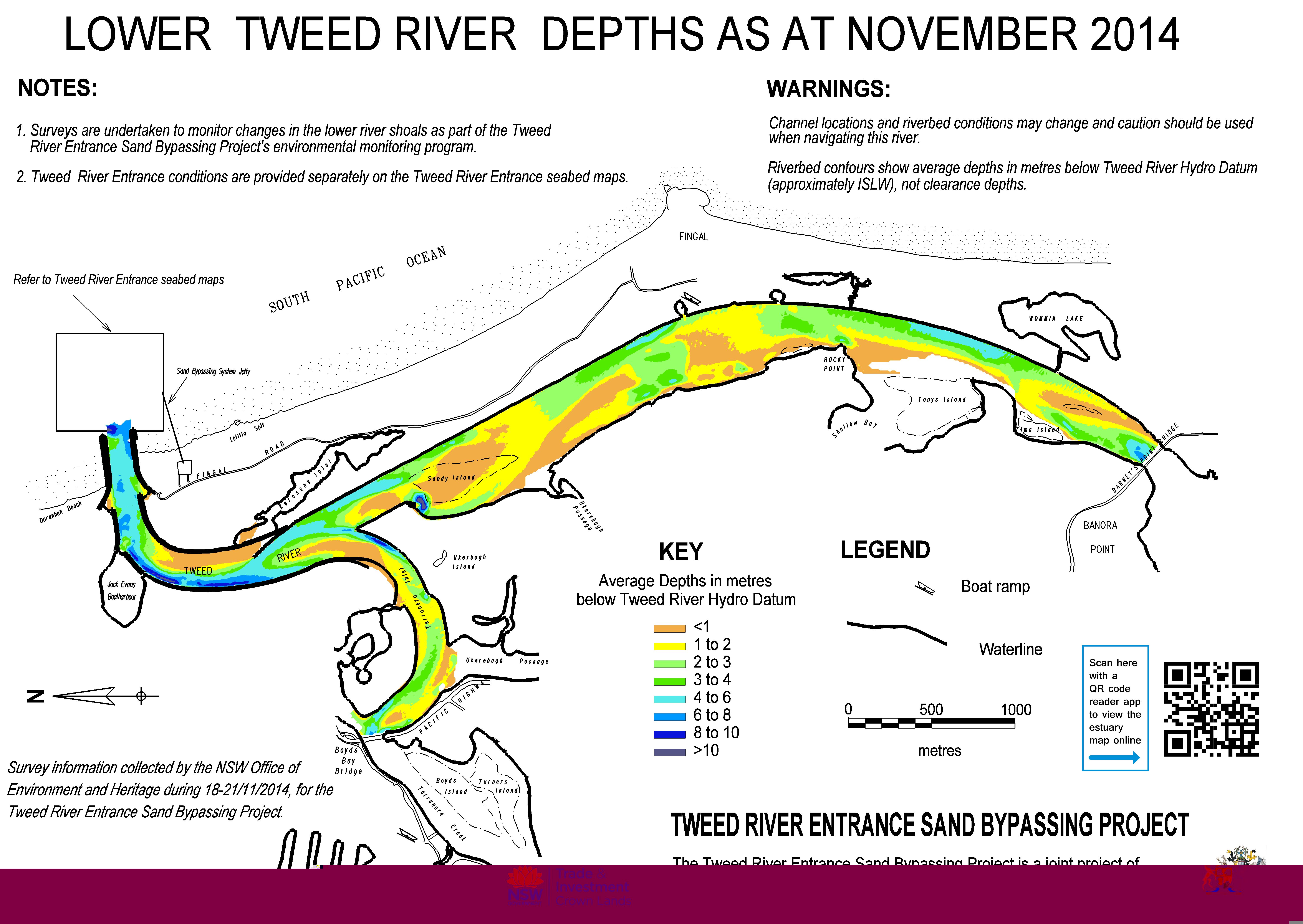 Lower Tweed River Depths - November 2014
